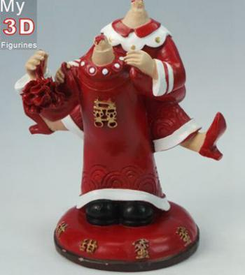 3d personalized bobbleheads Chinese wedding SR003
