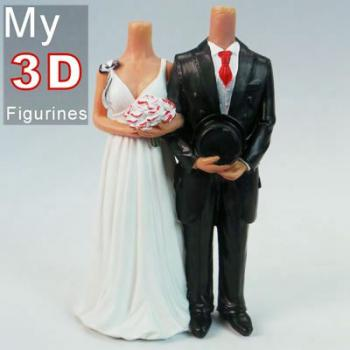 3d personalized bobbleheads wedding SR020
