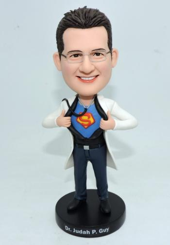 Custom Super Doctor bobbleheads