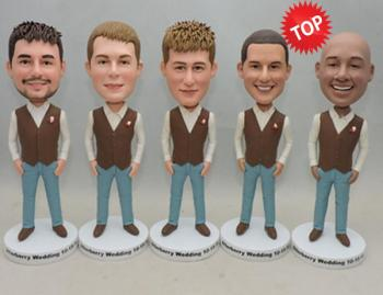 Single Custom groomsmen bobbleheads