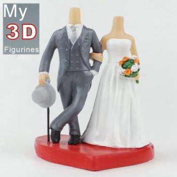 3d personalized bobbleheads wedding SR203