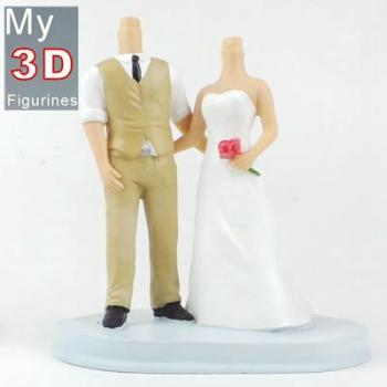 3d personalized bobbleheads wedding SR205