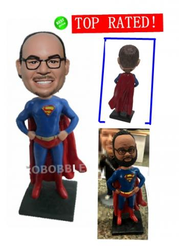 Personalized Bobblehead Superhero