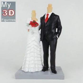 3d personalized bobbleheads wedding SR122