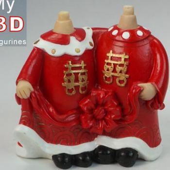 3d personalized bobbleheads Chinese wedding SR004