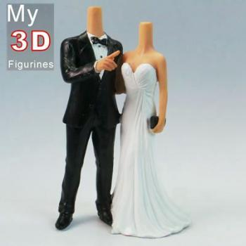 3d personalized bobbleheads wedding SR023