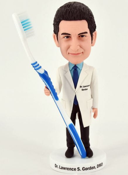 Custom dentist bobblehead