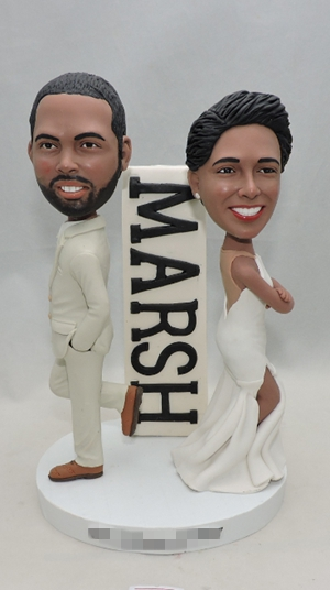 Custom Mr. & Mrs. wedding cake topper
