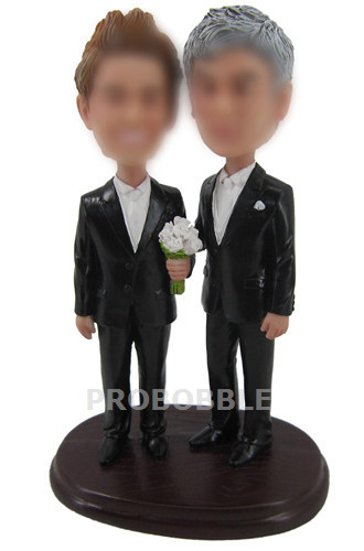 Male Gay SameSex Cake Toppers