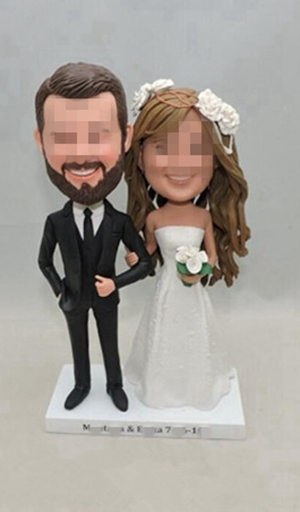 Custom country wedding cake topper