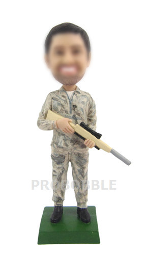 Personalized military Bobbleheads