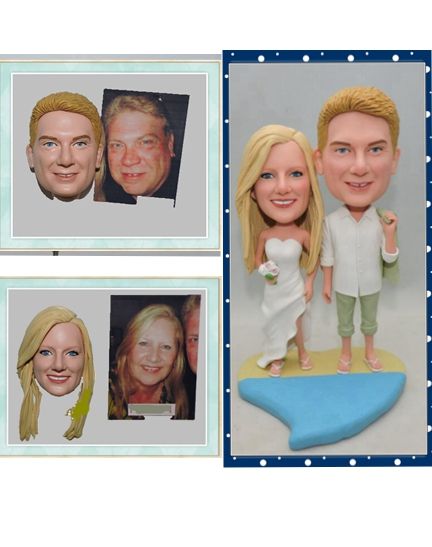 Custom Wedding Cake Toppers Sandy Beach Theme