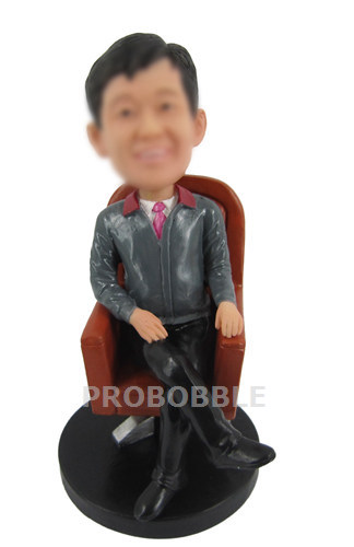 Businessman in Chair Bobbleheads Doll