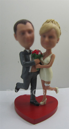 Heart Shape Wedding cake topper