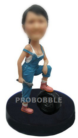 Bobbleheads Sexy Female Mechanic