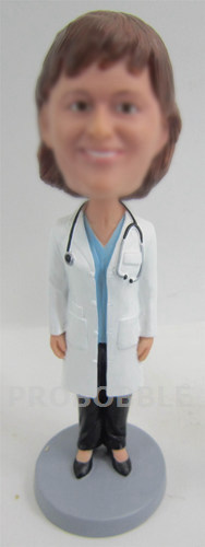 Female Doctor Bobbleheads with lab coat