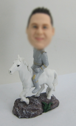 Personalized Bobbleheads male riding horse