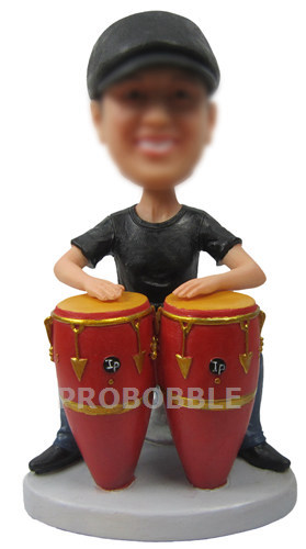 Hand Drum Player Custom Music Bobbleheads