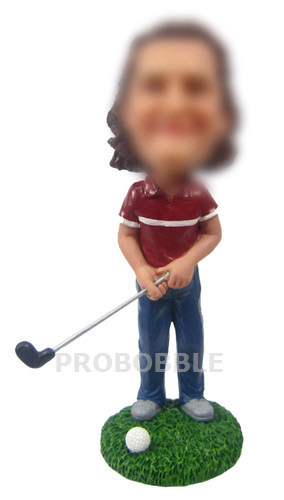 Female Golfer Bobbleheads - Golf