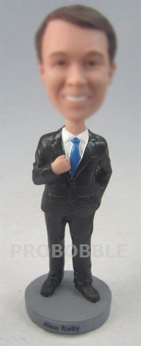 Male Executive In Power Suit Bobblehead