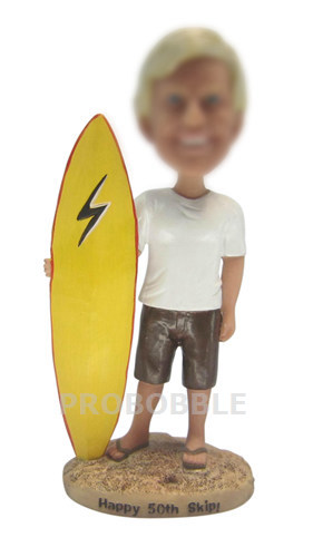 Man Sailing Boat Bobble Head