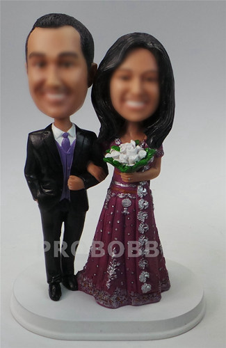 Custom Cake Topper - Indian Wedding