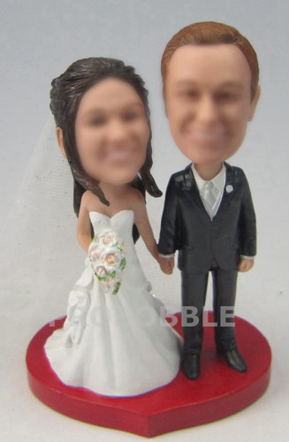 Wedding Bobbleheads Cake Toppers