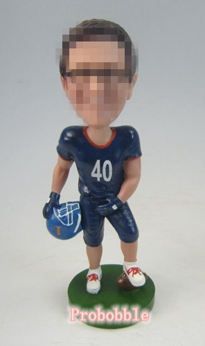 Custom rugby player bobble heads gift