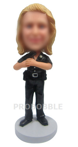 Custom Bobble heads Female Police Officer