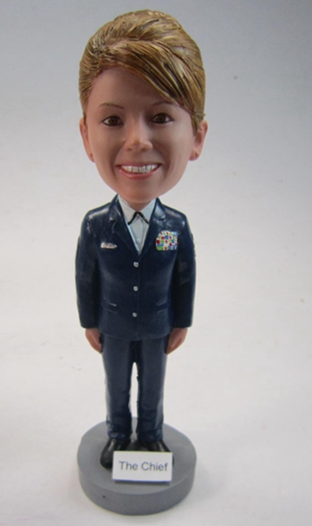 Female police officer bobblehead