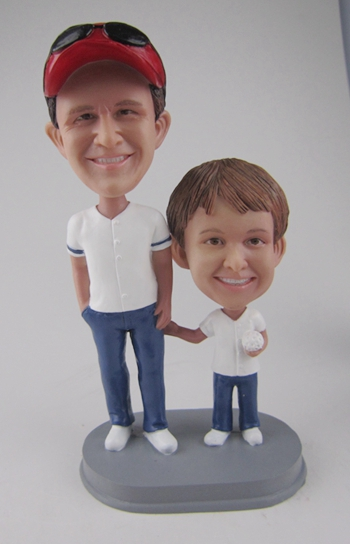 Dad and Son bobbleheads