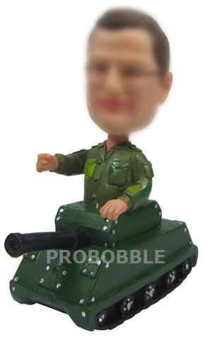 Soldier In Tank Bobbleheads