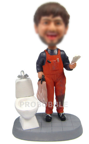 Repairman Besides Closestool Bobblehead