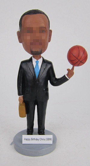 Custom business bobbleheads with basketball