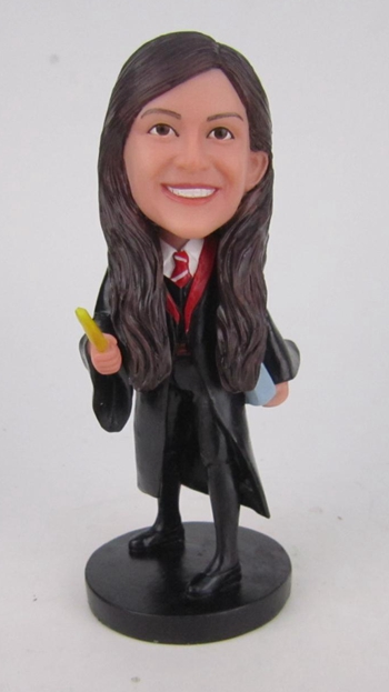 Custom Female Graduation Bobblehead