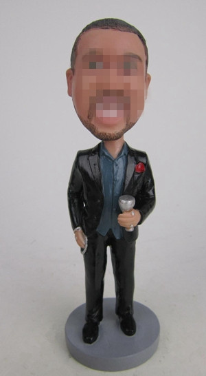 Custom Business bobbleheads with wine
