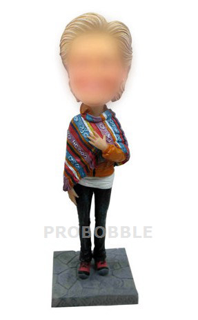 Lady Wear shawl Bobble heads