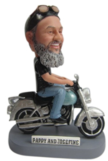 Custom bobblehead with harley davidson