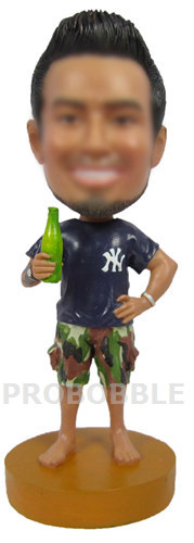 Custom Bobblehead Drinking Beer