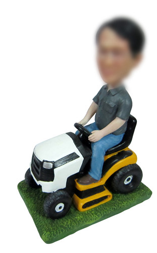 Personalized Mower Driving Bobblehead Doll