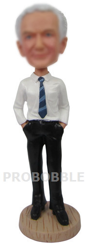 Custom Bobbleheads Hands In Pocket