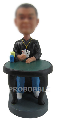 Custom Poker Player Bobbleheads